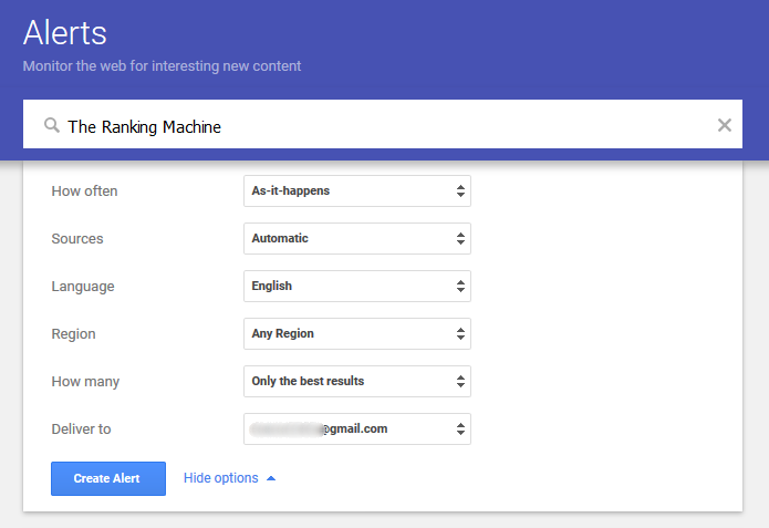 Setting Up Google Alerts